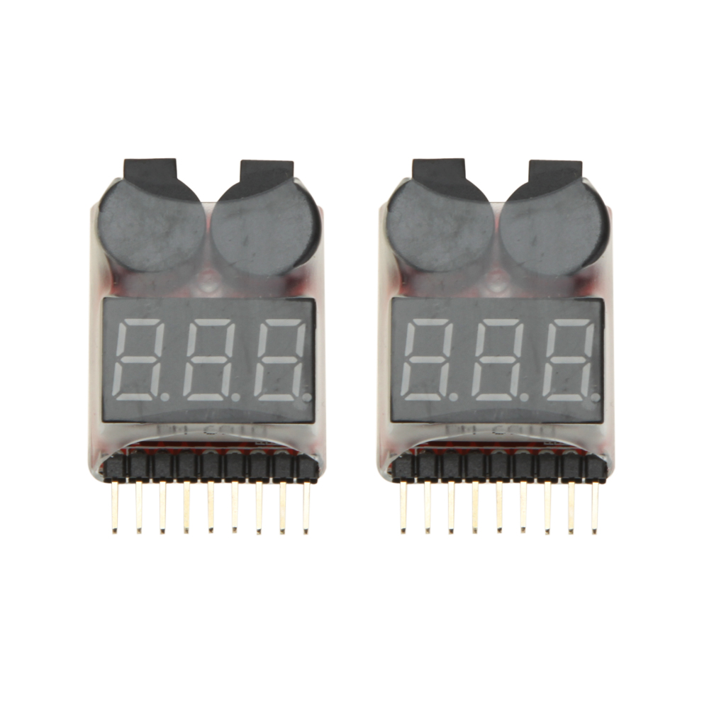 1-8s Lipo Battery Tester Low Voltage Buzzer Alarm for RC Drone// Boat// Plane
