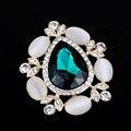 Oro antiguo plateado bufanda broches pin perla de imitación rhinestones tulip broche Accesorios de Vestir de Las Mujeres Elegantes BRO027-1