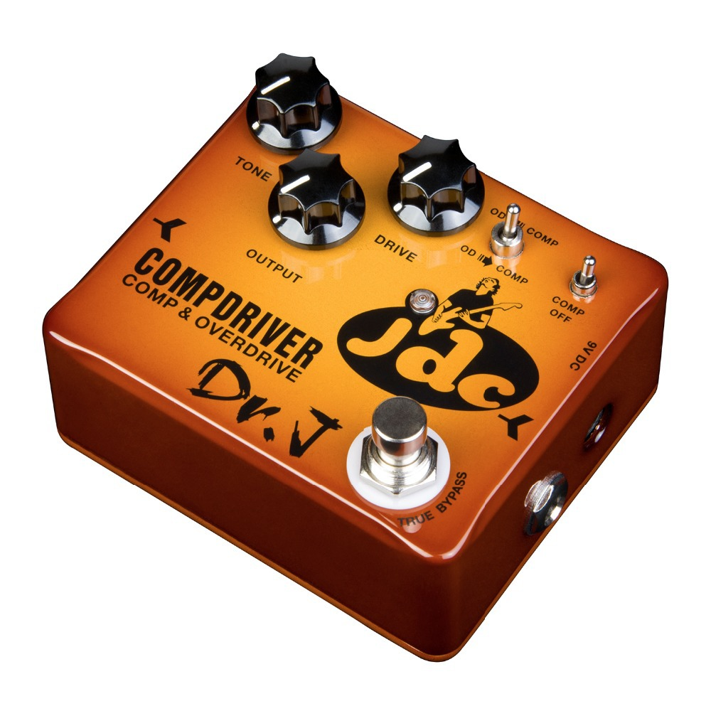 Dr. J Compdriver JDC Jose de Castro Signature Compressor plus Overdrive Effect Hand Made Electric Guitar Effect Pedal dr j d55 aerolite compressor hand made electric guitar effect pedal true bypass guitar accessory