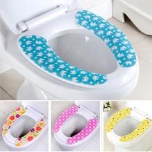 Чехол для унитаза мягкая WC вставка для унитаза коврик для сиденья моющаяся ванная комната грелка Крышка для сиденья коврик для унитаза липкий коврик для сиденья