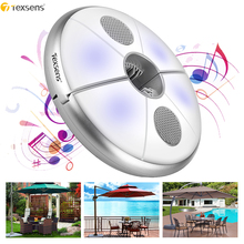 Texsens LED Beach Music Umbrella Light Bluetooth Wireless Speaker USB Rechargeable Outdoor Camping BBQ Lamp Colorful Night Light kmashi new led flame lamp night light wireless speaker touch soft light iphone android bluetooth 3d bass music player