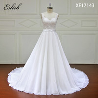 Eslieb High End New Design A Line Lace Wedding Dresses 2018 Sweetheart Lace Up Back Vintage