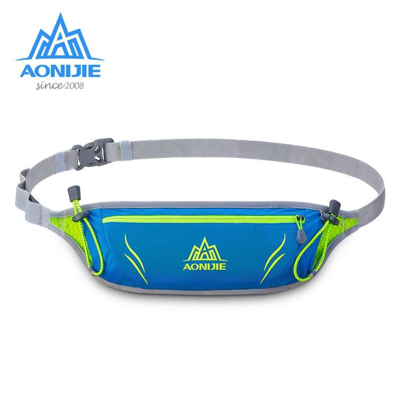 AONIJIE Polyester Outdoor Waist Bag Men Women Sports Waterproof Waist Bags Pack Running Belt Bag For Hiking Running Cycling