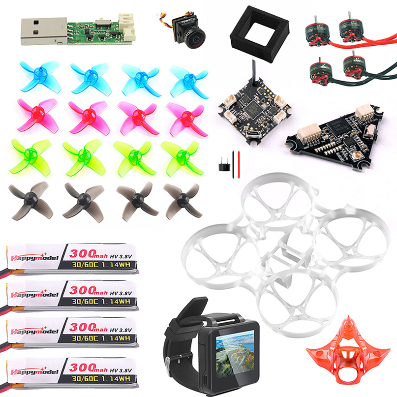 Full Set DIY Mobula 7 V3 FPV Drone Combo Crazybee F4 PRO FPV Watch V3 Frame