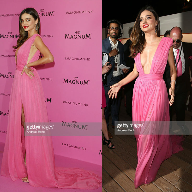 Andrea Osvart 2015 Cannes Gala Red Carpet Celebrity Dress Light Yellow A  Line Summer Style Asymmetric Side Slit Chiffon Dresses-in Celebrity-Inspired  ... b40dbc242a7f