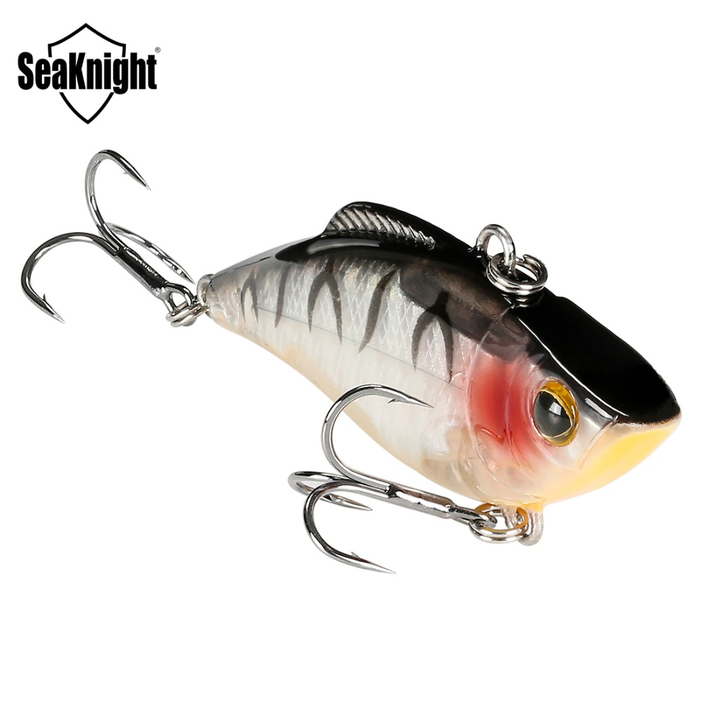 SeaKnight SK010 Fishing Lure VIB 1PC 9.5g 60mm Sinking Vibration Hard Bait Artificial Bait Anti-corrosion Hooks for Lure Fishing