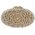 LaiSC Luxury diamond crystal evening bags silver ladies party purse bags prom clutch bag women wedding bag soiree pochette SC119