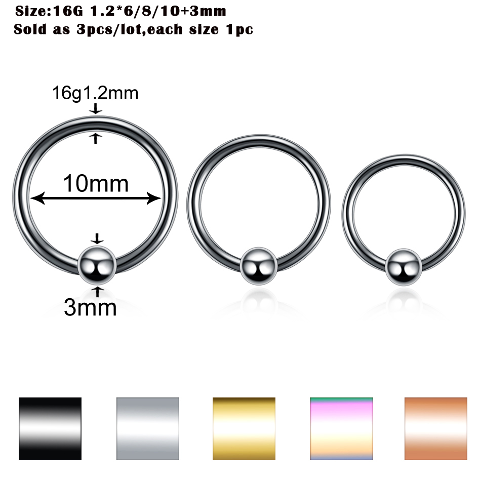 Ring labrets 3pcs/lot for body piercings