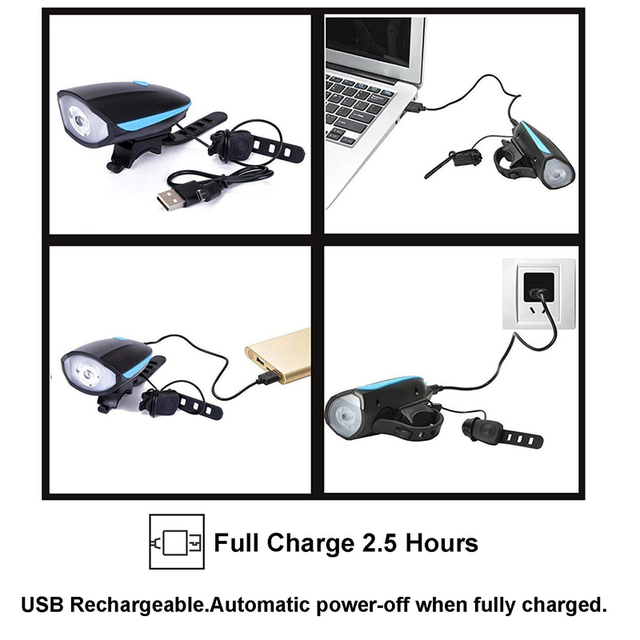Bicycle Rechargeable Headlight Ultra Bright
