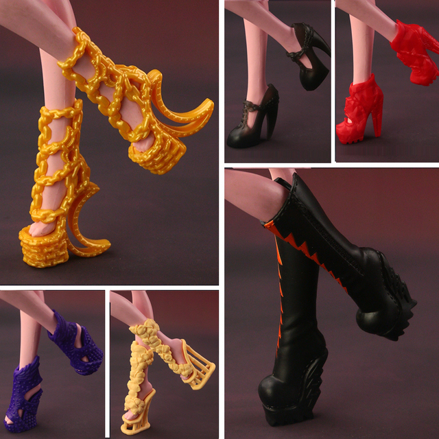 2019 г., модные высокие сапоги, обувь для кукол Monster High, милые оригинальные туфли кукольные аксессуары, 15 стилей в наличии