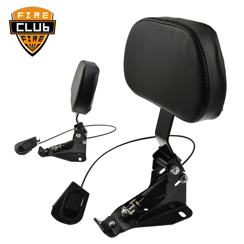 Detachable Adjustable Driver Rider Backrest W/ Mounting Kits For Harley Touring Road King Street Glide FLHR FLHX FLTRX