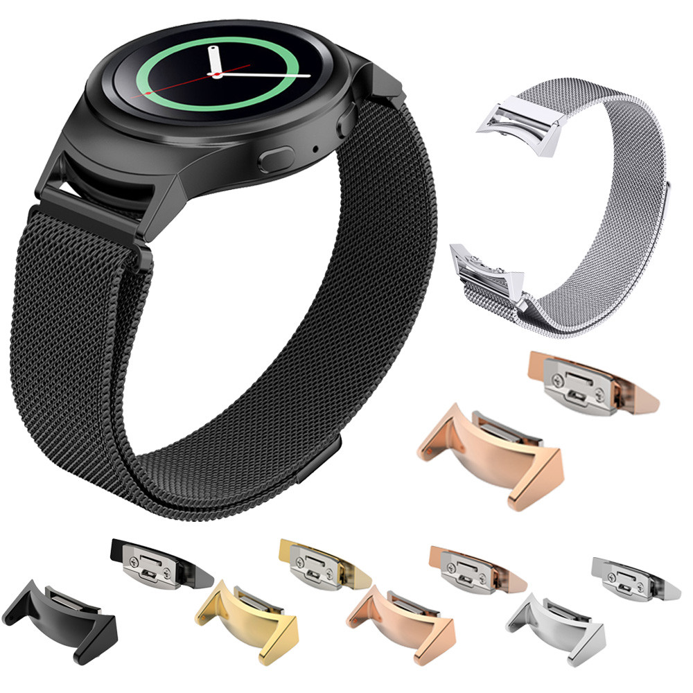 Stainless Steel Connector Connect 20mm Watch Band For Samsung Gear S2 RM-720#77 stainless steel watchband with connector adaptor for samsung gear s2 rm 720 for samsung gear s2 sm r720 band smgs2m3lc