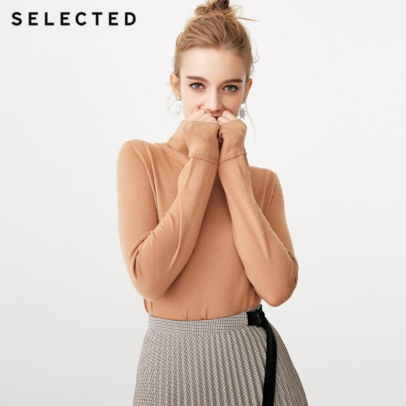 SELECTED New Type Italian Merino Pure Wool High collar Sweater SIG 418424520