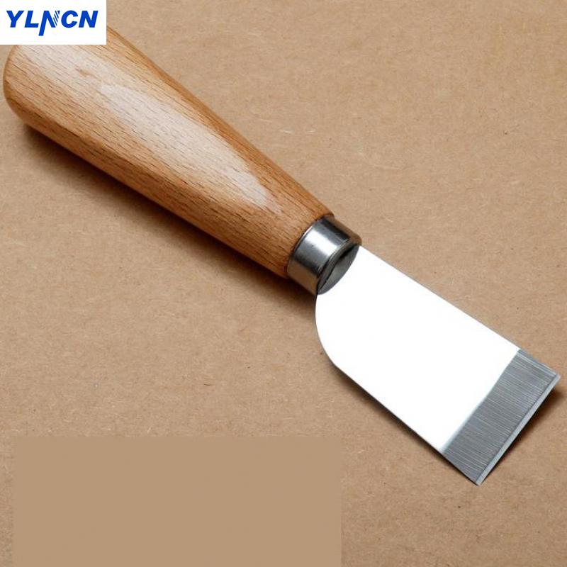 Japanese import leather knife Cut knife Handmade leather DIY Cutting tool Shovel knife High carbon steel solid wood handle