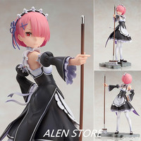ALEN 22cm Japanese anime figure RE: ZERO Starting Life in Another World Ram maid ver action figure collectible model toys for bo