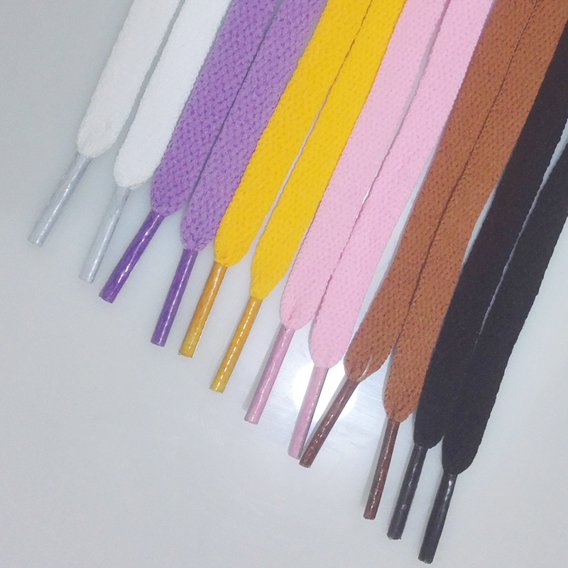 1 PAIR 6 COLORS Shoelace Athletic Sport Sneakers Flat Shoelaces Bootlaces Shoe laces Strings ASL663C
