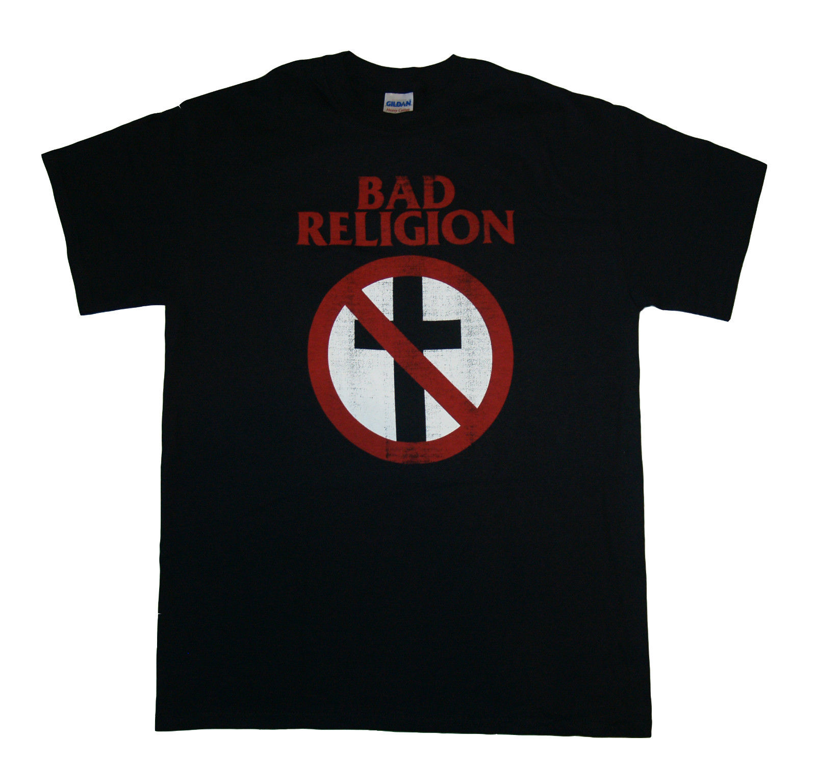 Black t shirt online design - Bad Religion Distressed Crossbuster Online Design T Shirt