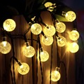 2016 RGB Led Outdoor String Lights 5M 40LEDs Crystal Ball Globe Fairy Strip Lights for Outside Garden Patio Party Christmas