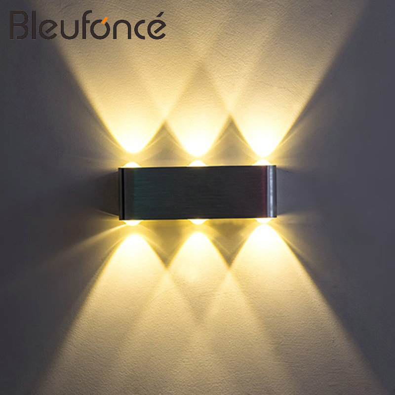 Interior led Wall Lamp Aluminum Wall Sconce Home Decoration Lighting LED 6W 8W 220V Wall Light Bedroom corridor Wall Lamps BL141 ac 85 265v 8w cloud led wall lamp acrylic sconce mounted light for home interior lighting