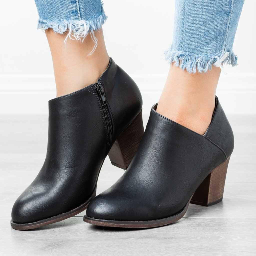 MoneRffi kadın ayak bileği Bootsdropship sonbahar kadınlar yüksek topuklu çizmeler platformu seksi bayanlar siyah pompaları bot ayakkabı