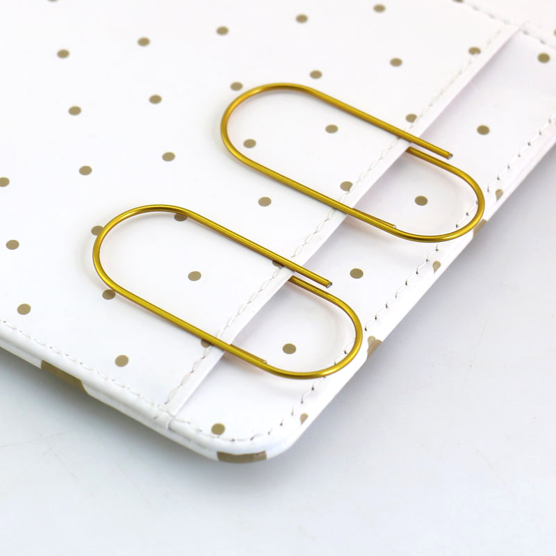 Free Shipping 1000pcs Large Size Paper Clips Gold/ Lighter Gold/pink / Rose Gold  4 Colors Available