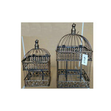 Fashion Wedding Birdcage Iron Home Decoration Props Bird Cage Custom Decorative Black White Copper Colors