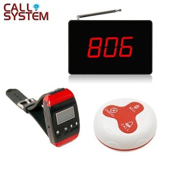 YCALL пейджер вызов Ресторан беспроводной системы обслуживания официант дисплей Панель с кнопкой вызова (1 дисплей + 1 часы + 15 кнопка вызова)