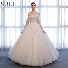 SuLi SL-166 Beads Bridal Dress Tulle Lace Sweetheart Gown