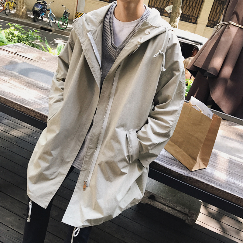 2019 Autumn England Style High Collar Jacket Trench Men Business Casual Slim Windbreaker For Men Coat Jacket Trench Coat Homme