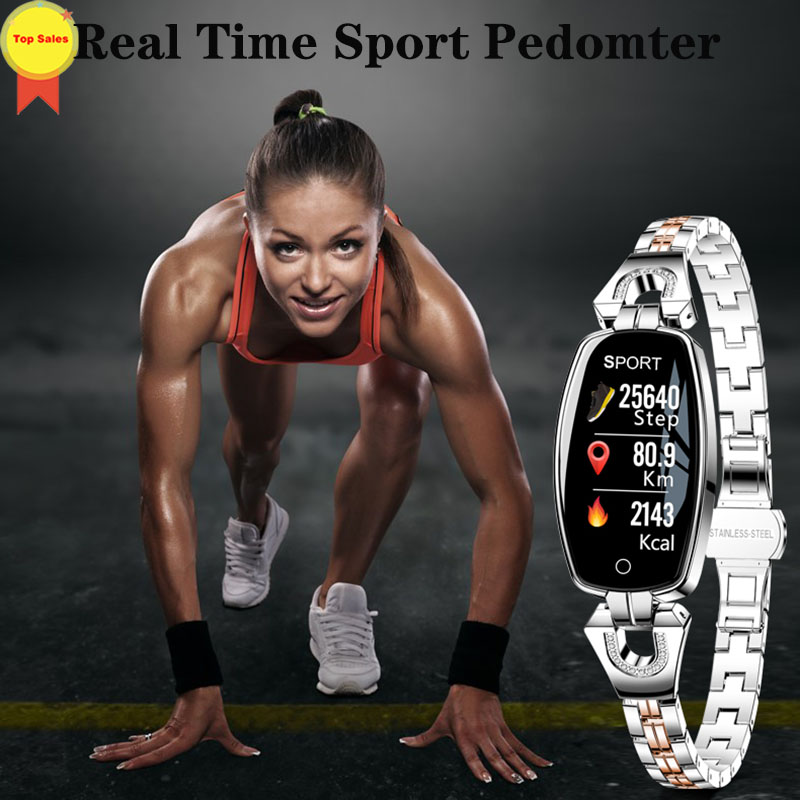 high quality female Smart Bracelet Women Fitness Tracker Heart Rate Monitor Blood Pressure IP67 Waterproof girl Smart Wristband