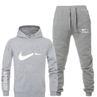 New 2019 Brand Tracksuit men thermal underwear Men Sportswear Sets Thick hoodie Pants Sporting Suit mens fashion tracksuit