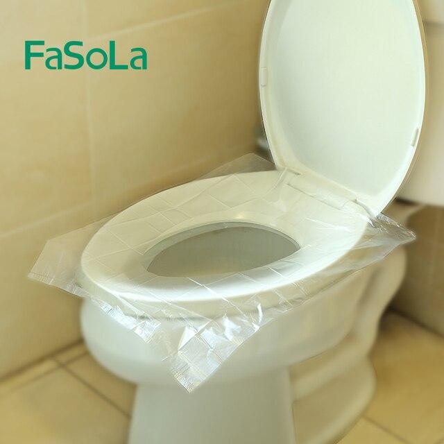 FaSoLa 1 Packs 10 pz Usa E Getta di Tavolette copriwater Zerbino 100% Igienica I