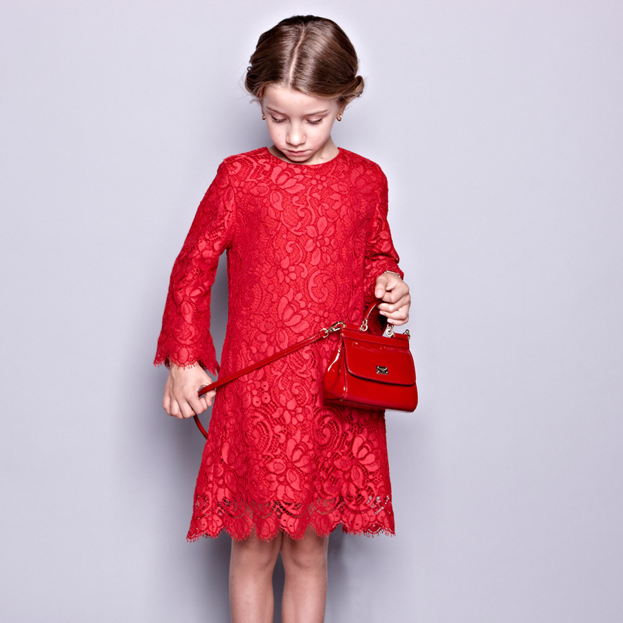 Popular Red Lace Long Sleeve Kid Girl Dress-Buy Cheap Red Lace ...