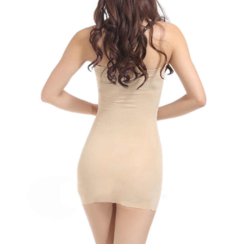 39aec966097c8 Womens Strapless Full Body Bodycon Slip Shaper Seamless Tube Slip Under  Dress