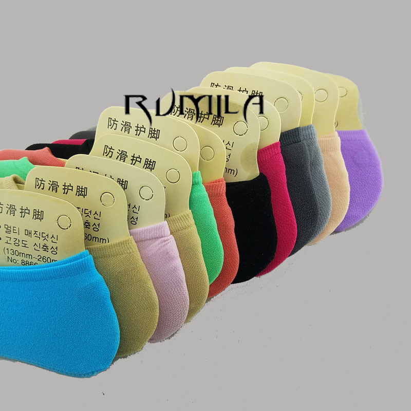 Warm Comfortable Cotton Bamboo Fiber Girl Women's Socks Ankle Low Female Invisible  Color Girl Boy Hosier 3pair=6pcs 3xWS40