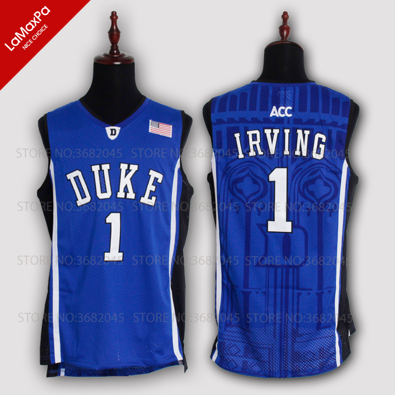 Cheap Kyrie Irving 1 Basketball Jerseys Duke University Blue Devils High Quality Throwback Stitched Commemorative Retro Shirts 44 rev 30 44 pistol pete basketball jerseys