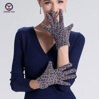 2017 Hiver Leopar mode femme gants femelle douce et chaude chauffée épaissir laine dame conception mitaines polyester doublure gants de conduite