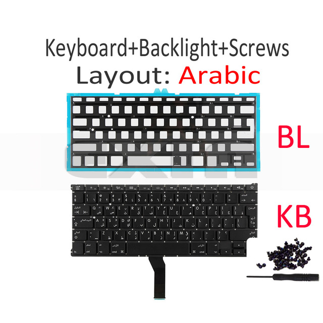 Replacement Keyboard US English Fits for Apple MacBook Air A1370 A1465