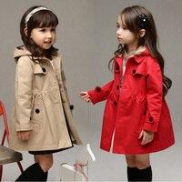 Children S Girls Clothes Autumn Winter Girls Trench Coat Jacket Hat Floral Hoodies Children Jacket Coat