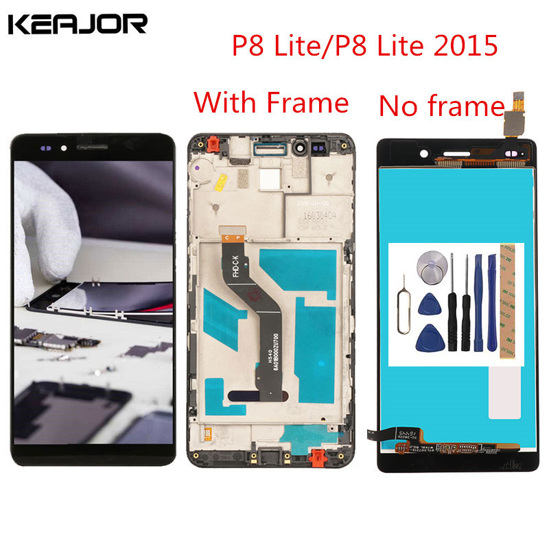For Huawei P8 Lite LCD Screen P8 Lite 2015 Display Screen with frame Tested Screen Replacement for Huawei P8 Lite 2015 5.0inch