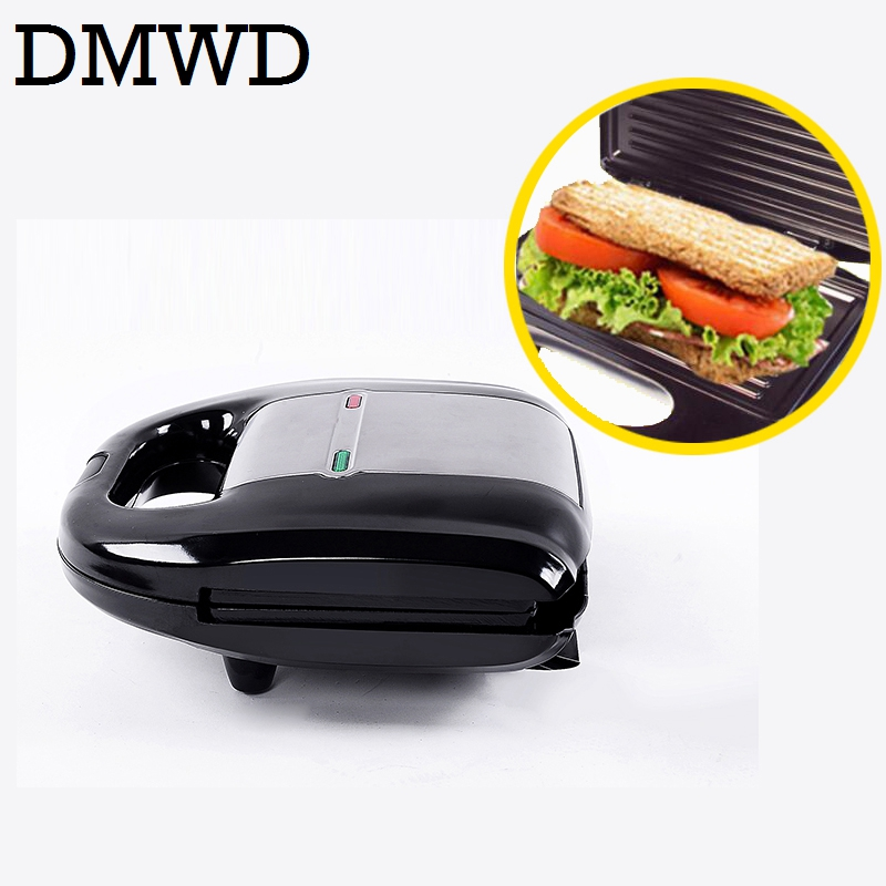 DMWD Multifunctional Electric Mini Sandwich Makers grilling Panini plate Waffle toaster breakfast machine barbecue oven EU plug