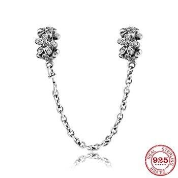 7cc84f588758 925 de plata esterlina cuadrado encantador circonitas brazaletes de moda  regalo cuentas Original Pandora encantos de la joyería de la pulsera