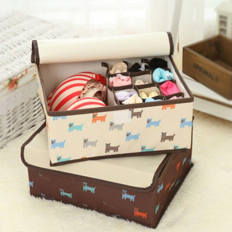 cloth:  Underwear storage box socks bra case home storage kit waterproof save space oxford cloth free shipping - Martin's & Co
