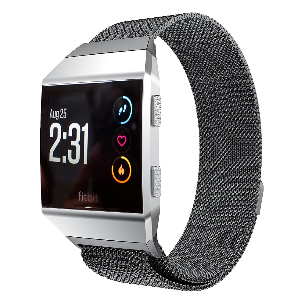 V-MORO Milanese Loop For Fitbit Ionic Band Replacement Stainless Steel Band for Fitbit Ionic Smart Watch пуловер tony moro tony moro to046emobl41