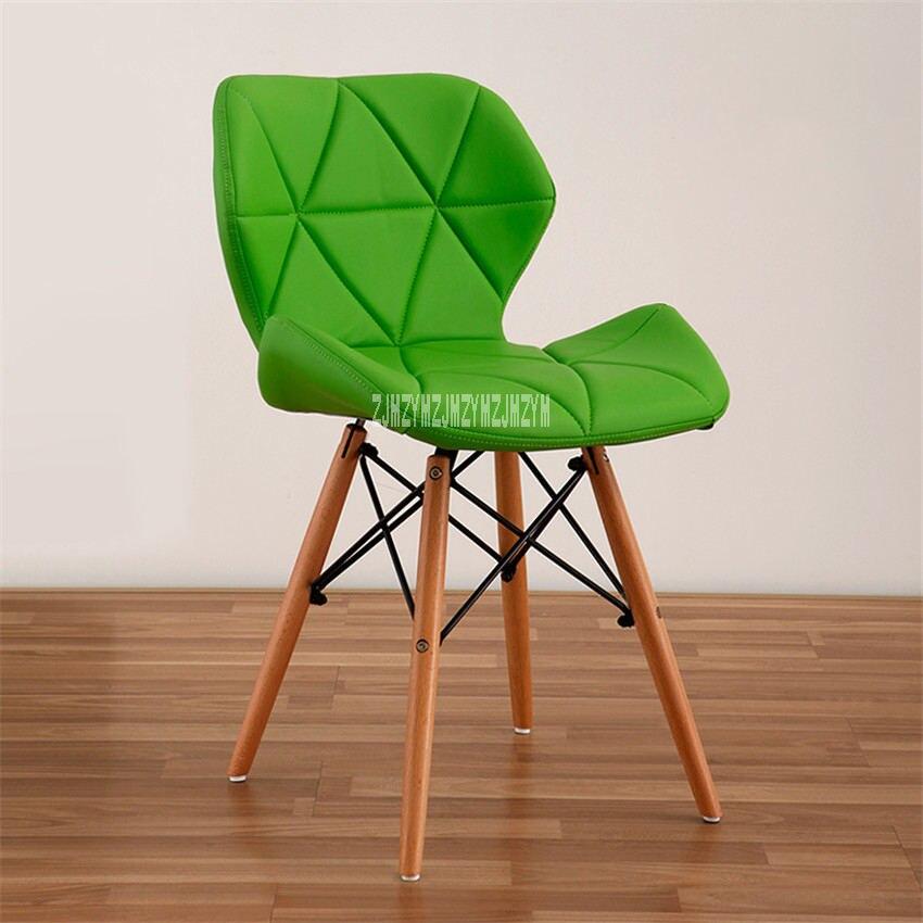 Деревянный стул для отдыха, современный креативный стул для гостиной, простой бытовой обеденный стул для кофе, офисное компьютерное кресло с спинкой - Цвет: J