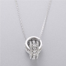 High-quality SWA original SWA personality double  pendant necklace lady's chain jewelry 1:1 Necklace цена и фото