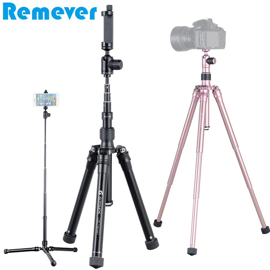 Aluminum Alloy Multifunction Mini Tripod for Canon Nikon Sony DSLR Gopro Hero Cameras Selfie Stick Monopod with Holder for Phone