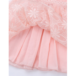 Image 4 - Kids Girls Sleeveless Halter Neck Floral Lace Tulle Flower Girl Dress for Wedding Pageant Birthday Party Princess Dress Vestidos