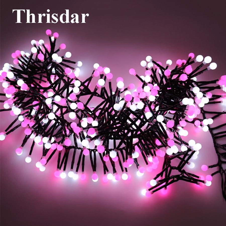 Thrisdar 3M 400 Christmas Fairy Garland Light Firecracker Cherry Ball LED String Light Xmas Wedding Party Wedding Patio Garland
