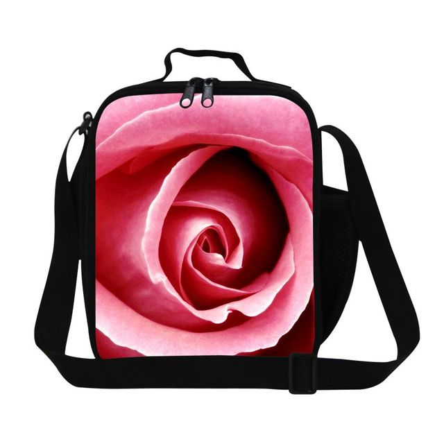 f550213919 Personalized pink rose lunch bag insulated lunchbox for girls school best  gift thermal meal pack for teens kids picnic food bags. Price